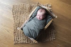 newborn-bedje-groen